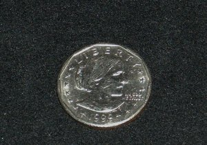 Susan B Anthony 1999 Silver Dollar P