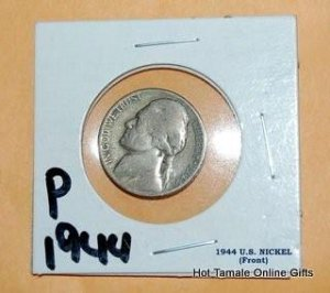 1944 P Jefferson Nickel 5 Cent 1944P Silver Coin