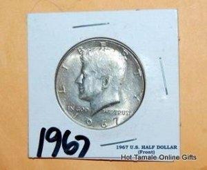 1967 KENNEDY HALF DOLLAR. BRILLIANT UNCIRCULATED.