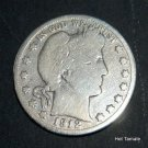 1912-S BARBER SOLID 90% SILVER HALF DOLLAR S mint d7