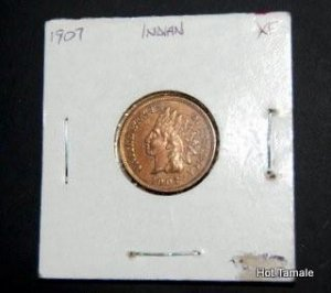 1907 Indian Head Penny XF Estate Lot f20209