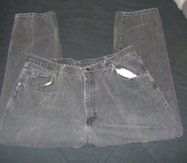Wrangler Mens Black Jeans Pre-Owned
