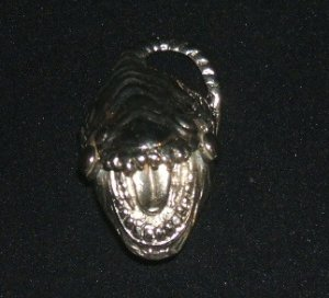 Gothic Full Finger Silver Tone Lizard Ring