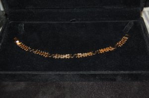 Gold Over Silver Vermeil 7 1/2 inch Bracelet New