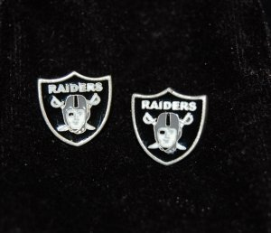 Oakland Raiders Earring Set