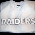 Raiders WHITE SHORT SLEEVE JERSEY MAJESTIC JERSEY WITH SEWED ON RAIDERS WITH SILVER TRIM 2XL