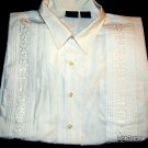 Mens TROPI - COOL WHITE Guayabera Button Up Short Sleeve Shirt