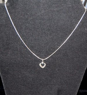Serpentine Girl /Teens  Chain with .925 Heart Pendant