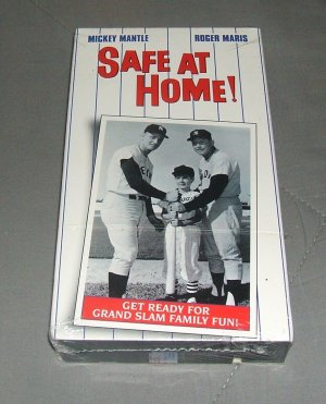 Safe at Home Collectible VHS Baseball Movie Video Mickey Mantle & Roger Maris