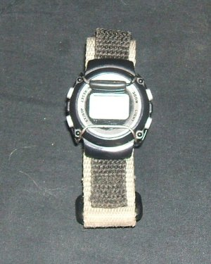 Digital Watch with Canvas & Velcro Band perfect for pre-teen