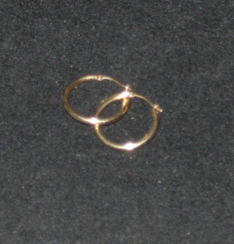 14kt Gold Hoop Earrings Scrap or Wear