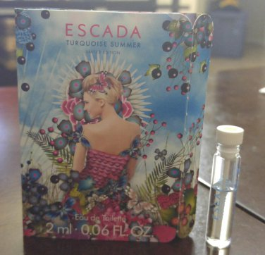 Escada Turquoise Summer edt -  2 ml SAMPLE - BN