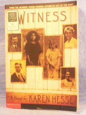 Witness, Karen Hesse, Newberry Award-Winning