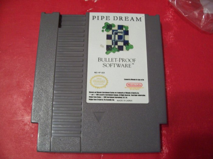 PIPE DREAM FOR NINTENDO *TESTED* 8 BIT NES