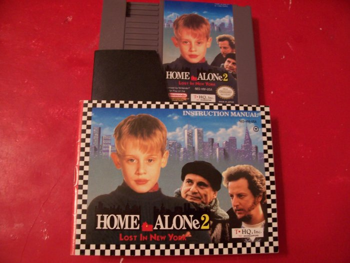 HOME ALONE 2 WITH BOOKLET *TESTED* NINTENDO