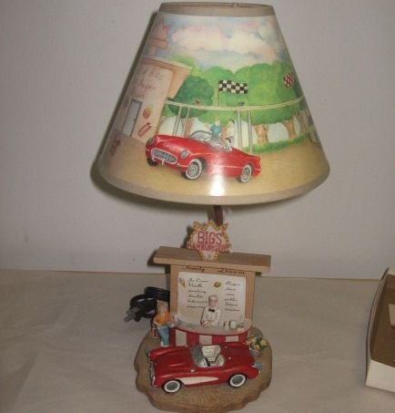 Retro Design Be-Bop Drive In Diner Lamp & Shade