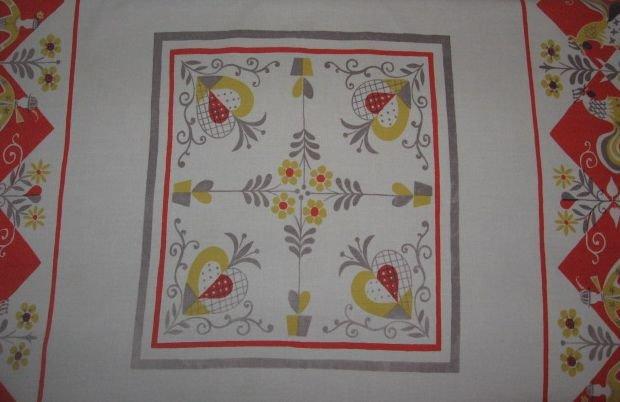 Vintage Simtex Early Morn Print Cotton Tablecloth