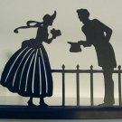 Courting Victorian Couple Decorative Hand-cut Silhouette