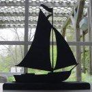 A Pleasure Sailing Boat Hand-cut Wood Silhouette