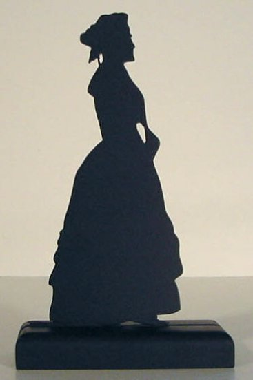 Demure Young Lady Decorative Wood Silhouette A Nice Gift