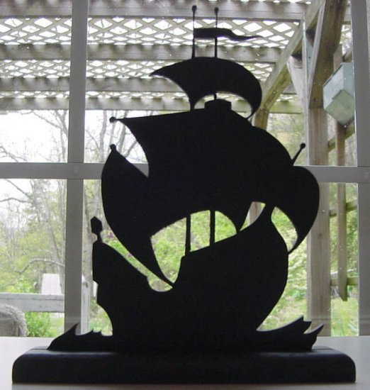 Sailing Galleon Hand-cut Wood Decorative Silhouette � Old Nautical