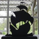 Sailing Galleon Hand-cut Wood Decorative Silhouette – Old Nautical
