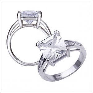 1.2 CT Platinum Rhodium Ring