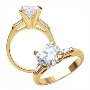 1.5 CT Solitaire Gold Ring