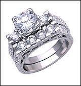 2.0 CT Platinum Rhodium Ring