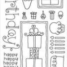 Doodlebug Clear - Birthday