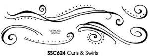 Stampendous Clear - Curls & Swirls