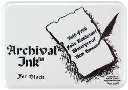 Archival Ink Pad & Re-Inker - Jet Black