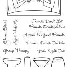 MFT Clear Stamps - Girls Night Out