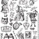 Crafty Secrets-Clear Art Stamps - Greetings From Wonderland