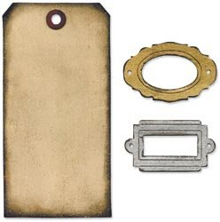 Tim Holtz Movers & Shapers -  Tag & Bookplates
