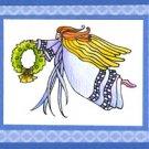 Lockhart Stamp Co - Wreath Angel