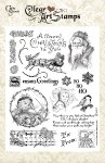 Crafty Secrets-Clear Art Stamps - Vintage Christmas