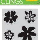 Hero Arts Clings - 4 Fun Flowers
