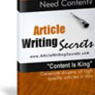 Article Writing Secrets eBook
