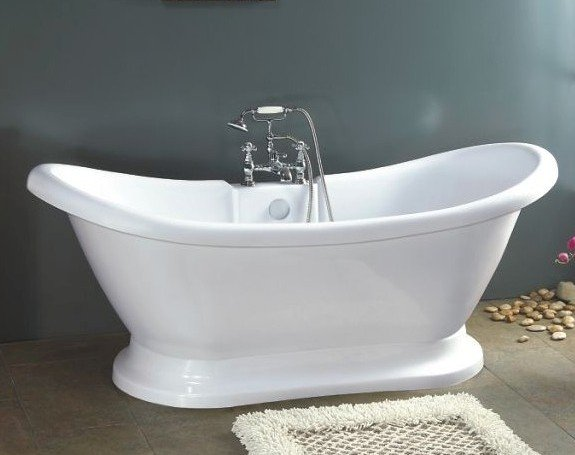 Isabella Pedestal Bathtub with Faucet clawfoot tub
