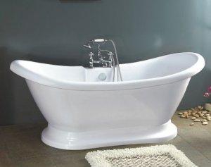 Isabella Pedestal Bathtub with Faucet clawfoot tub