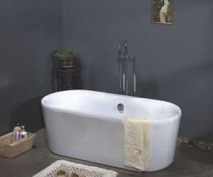 Aries Modern Freestanding Bathtub & Faucet cheap bathtubs bath tubs