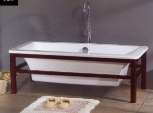 SAPPARO ASIAN INSPIRED FREE STANDING BATHTUB INCLUDES FAUCET large bath tubs
