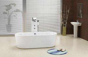 "Gabriel 59"" MODERN FREE STANDING SMALL BATHTUB with FAUCET bathtubs"