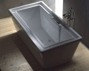 XAVIER EXTRA DEEP OVERFLOWING LARGE FREE STANDING BATHTUB with FAUCET