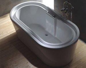 TESLA CONTEMPORARY  OVER FLOWING DEEP SOAKING FREE STANDING BATHTUB soaker bathtubs faucet