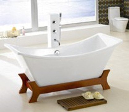 ryukyu asian inspired free standing small bathtub faucet