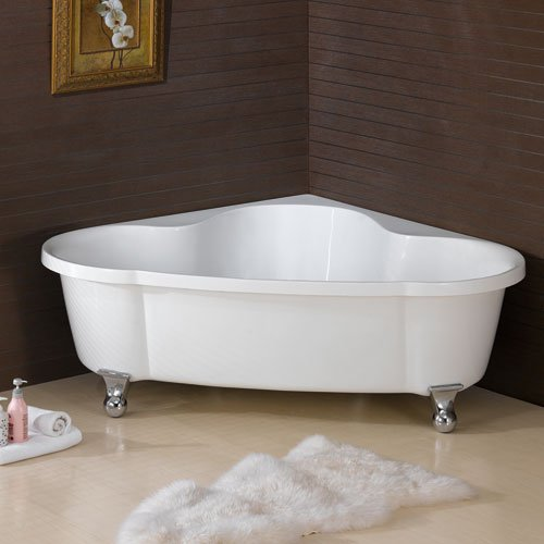 Large corner clawfoot bathtub bath tub tubs free standing for Free standing bath tub