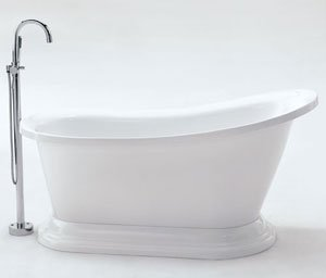 M9112 modern free standing pedestal bathtub cheap tubs for Cheap free standing tubs