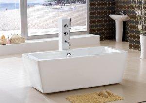 M-2059 Small Modern Free Standing Bathtub & Faucet